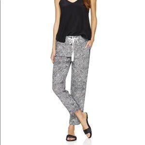 Wilfred Marais Silk Paisley Jogger Pants Size XXS